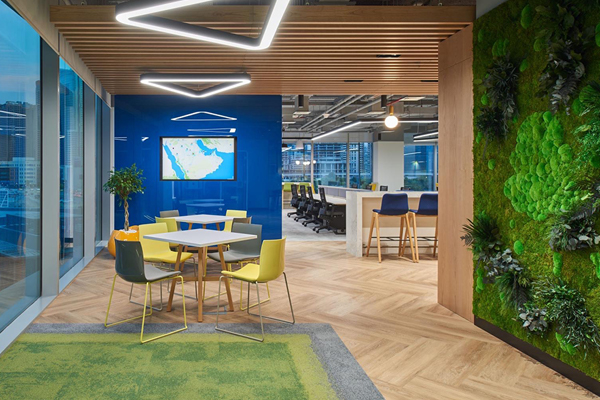 Living wall for office interior